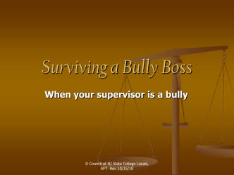 How to manage a bully boss - Council NJ State College Locals