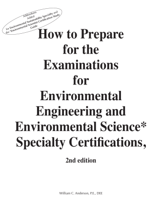 How to Prepare for the Examinations for Environmental Engineering