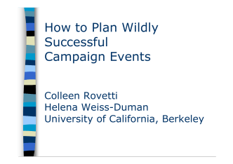 How to Plan Wildly Successful Campaign Events