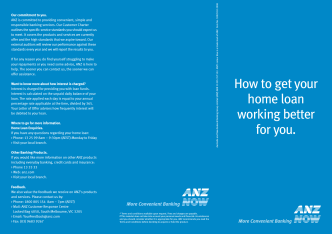 How to get your home loan working better for you. - ANZ