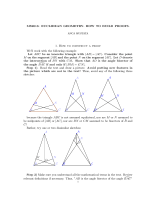 MS2013: EUCLIDEAN GEOMETRY. HOW TO BUILD PROOFS. 1