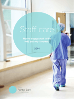 How to engage staff in the NHS and why it matters 2014