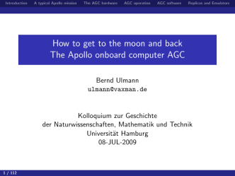 How to get to the moon and back The Apollo onboard computer AGC