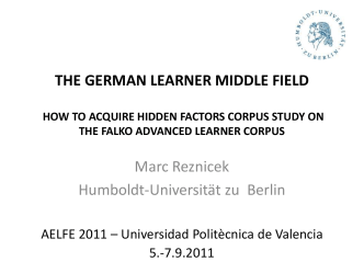 THE GERMAN LEARNER MIDDLE FIELD HOW TO ACQUIRE