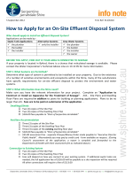 How to Apply for an On-Site Effluent Disposal System - Serpentine