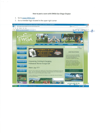 How to post a score with EWGA-San Diego Chapter - Womens Golf