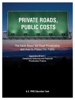 The Facts About Toll Road Privatization and How to Protect the Public