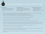 How to Dominate a Creative Kickoff Call