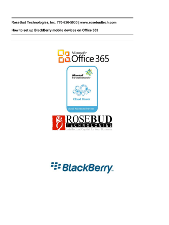 Configure BlackBerry with Office 365 - RoseBud Technologies