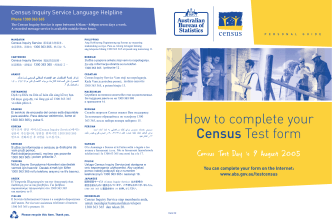 How to complete your Census Test form - Australian Bureau of