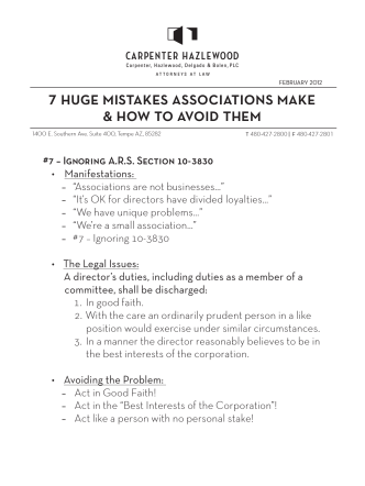 7 huge mistakes associations make  how to avoid them - Carpenter