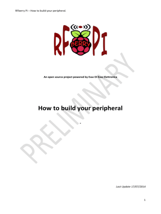 How to build your peripheral - RFberry Pi