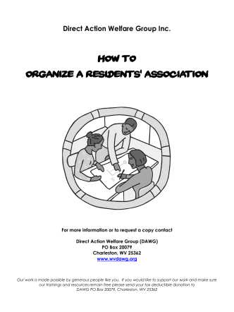 How to Organize a Residents Association