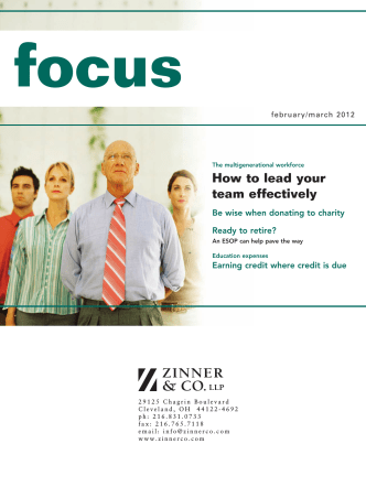How to lead your team effectively - Zinner  Co. LLP
