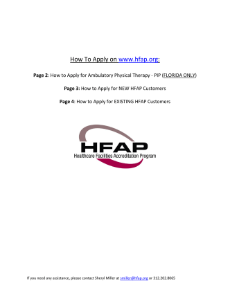 How To Apply on www.hfap.org: