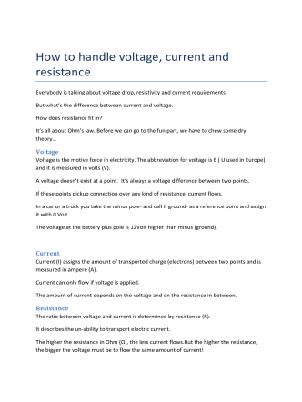 How to handle voltage, current and resistance - PicR.de