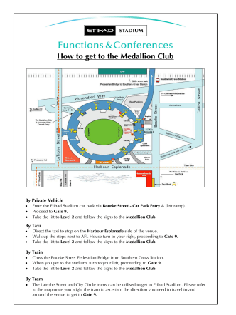 How to get to the Medallion Club - Melbourne Ice