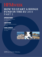 HOW TO START A HEDGE FUND IN THE EU 2014 - HFMWeek