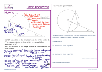 How to . . . Circle Theorems - JustMaths
