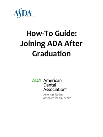 How-To Guide: Joining ADA After Graduation - American Student