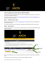 How to submit your entry into the AACTA Awards