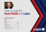 How to vote for Kevin RUDDand Labor - KEVIN13
