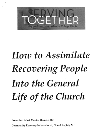 How to Assimilate Recovering People - CMCA