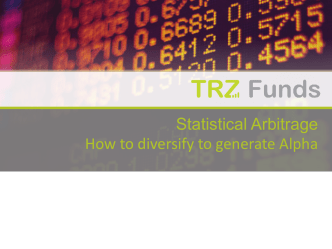 Statistical Arbitrage How to diversify to generate Alpha - Nomura