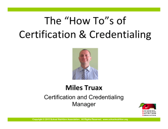 "The ""How To""s of Certification  Credentialing - West Virginia"