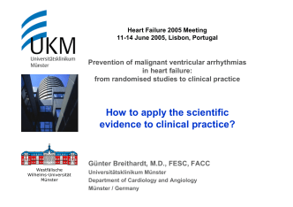 How to apply the scientific evidence to clinical practice? - European