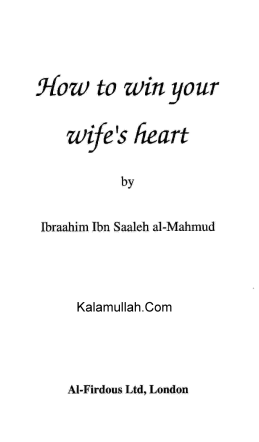 How to win your wifes heart - Islam House