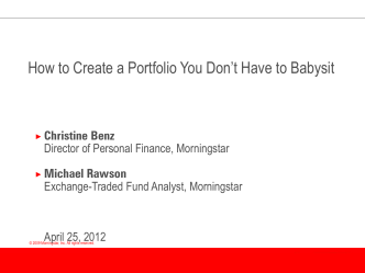 How to Create a Portfolio You Dont Have to Babysit