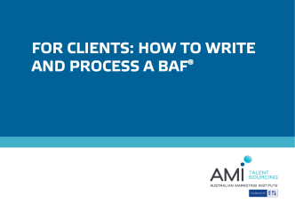 How to write and process a BAF