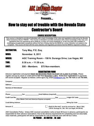 How to stay out of trouble with the Nevada State Contractors Board