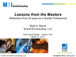 Lessons from the Masters - Rev A.pdf - ASQ | Grand Rapids Section