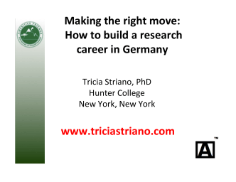 Making the right move: How to build a research career in - Gain