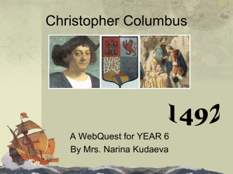 Columbus web quest
